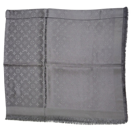 Louis Vuitton Monogram Shine cloth in anthracite