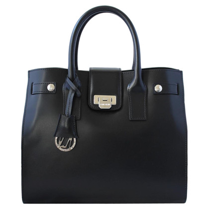 Luciano Padovan Black leather bag