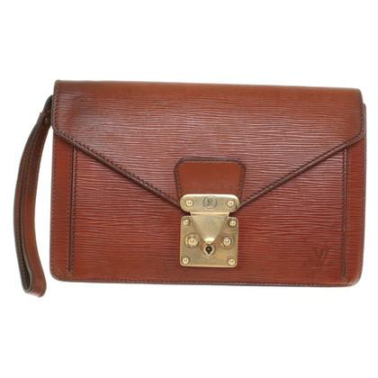 Louis Vuitton clutch brown Epi Leather
