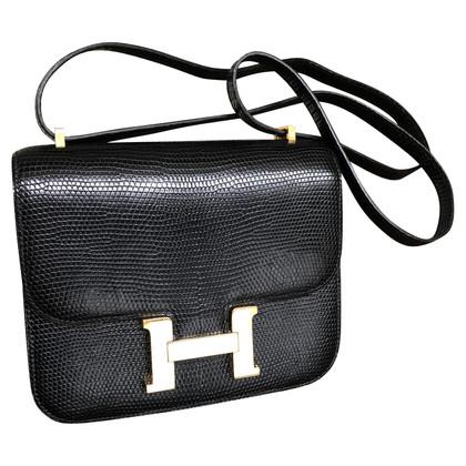"Hermès ""Constance Bag Mini"" hagedissenleer"