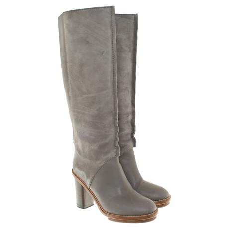 Acne Stiefel in Grau Grau