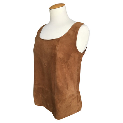 Max Mara leather top