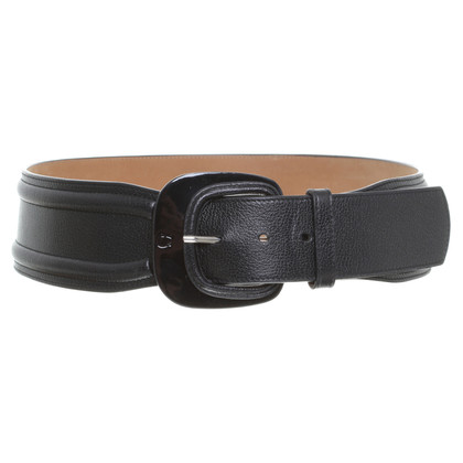 Aigner Black belt with logo detail