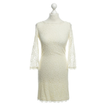 Diane von Furstenberg Lace dress in cream
