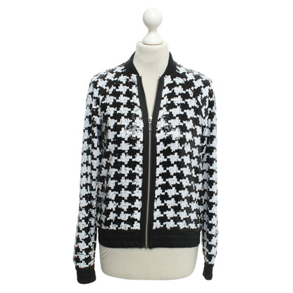 Michael Kors Sequin jacket in black and white