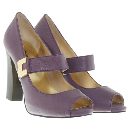Michael Kors Peeptoes in viola