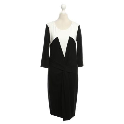 Laurèl Kleid in Schwarz/Weiß