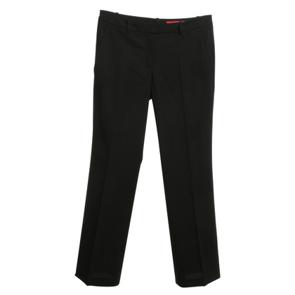 Hugo Boss pantaloni di lana in nero