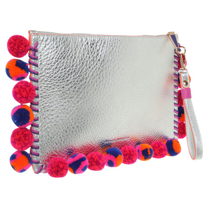 Sophia Webster  clutch in colore argento