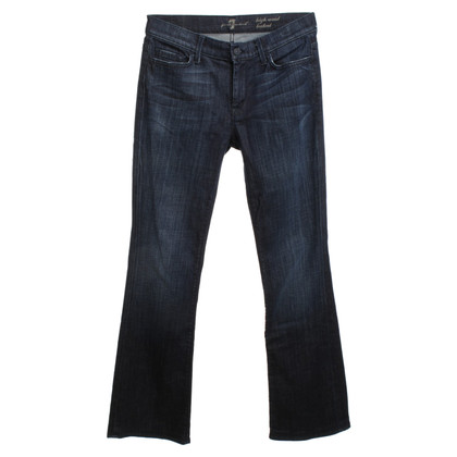 7 For All Mankind High Waist Jeans in donkerblauw