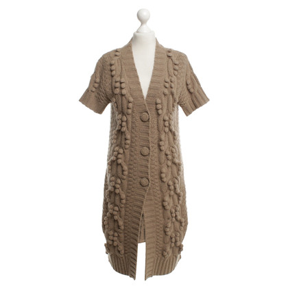 By Malene Birger Short sleeve knit coat in brown