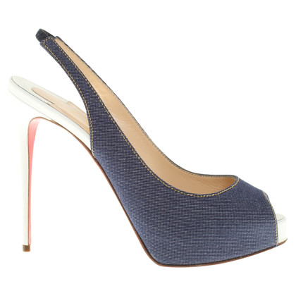 Christian Louboutin Peeptoes with jeans details