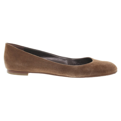 Manolo Blahnik Brown Ballerina's