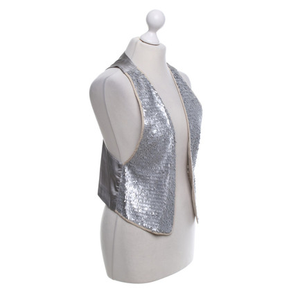 Schumacher Vest with sequin trim