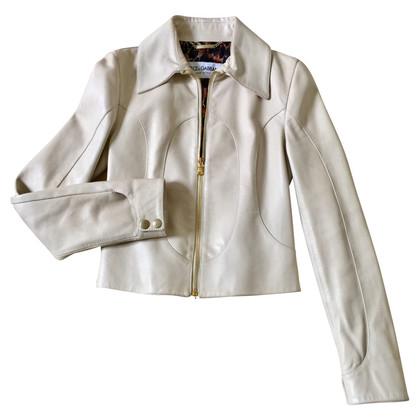 Dolce & Gabbana Ivory colored leather jacket