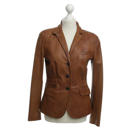 Ralph Lauren Leather Blazer in Brown