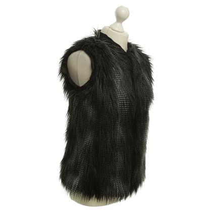 H&M (designers collection for H&M) Bont vest in zwart
