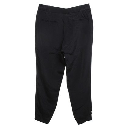 Theory Silk trousers in dark blue