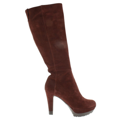 Sergio Rossi Wild leather boots in brown