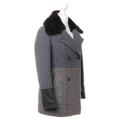 Etro Cappotto corto con mix di materiali
