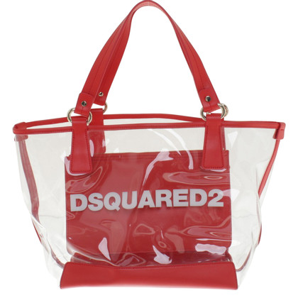 Dsquared2 Strandtasche in Rot