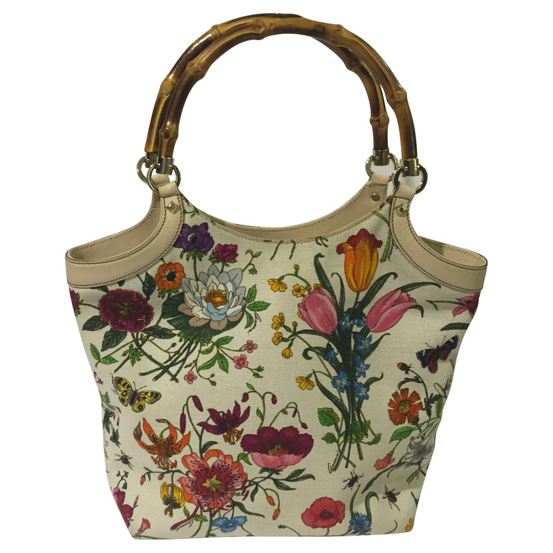 Gucci Flora Bag with bamboo handle