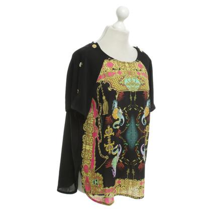 Roberto Cavalli Blusenshirt en noir / Multicolor
