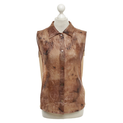 Marc Cain Sleeveless blouse in shades of brown