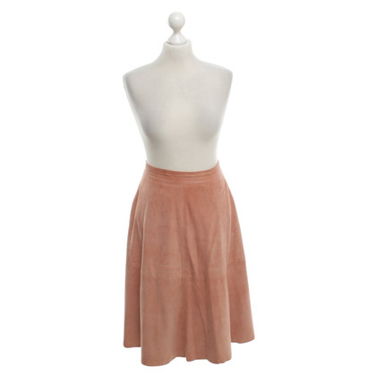 Iris & Ink Wild leather skirt in blush pink