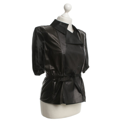Prada Leather shirt in black