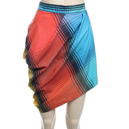 Vivienne Westwood Asymmetric Check-skirt