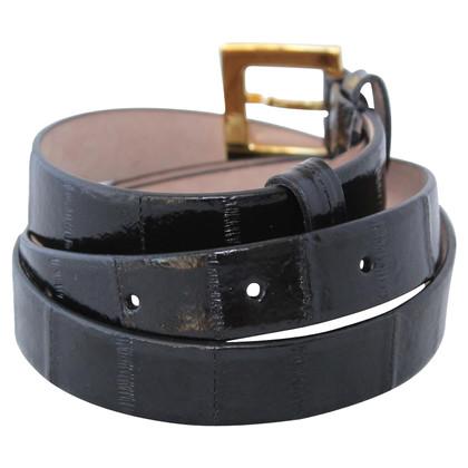 Dolce & Gabbana cintura di pelle di anguilla