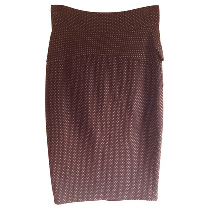 Diane von Furstenberg Brown skirt with polka dots
