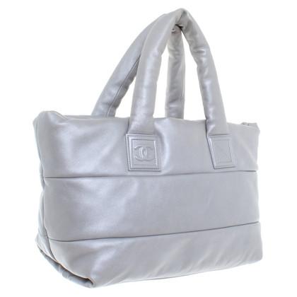 Chanel Gewatteerde shopper in zilver