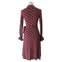 Diane von Furstenberg Robe portefeuille avec motif