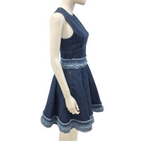 Alexander McQueen Denim couture dress