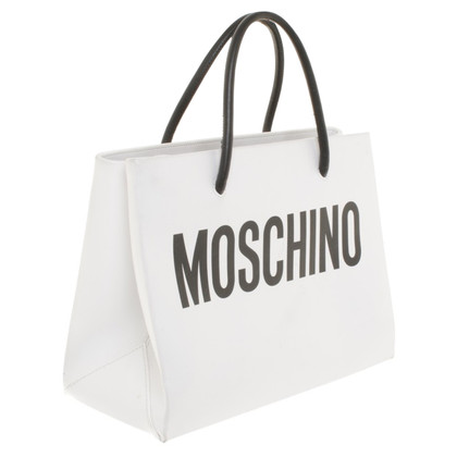 Moschino Handtasche in Schwarz/Weiß