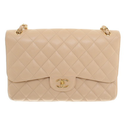 "Chanel ""Jumbo Flap Bag"" in Creme"