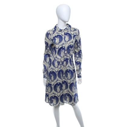 Hoss Intropia Blusenkleid in Beige/Blau