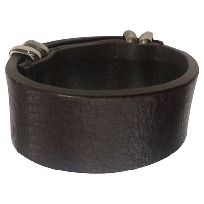 Fendi Fendi leather bracelet brown