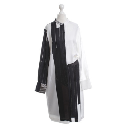 DKNY Asymmetrical silk dress