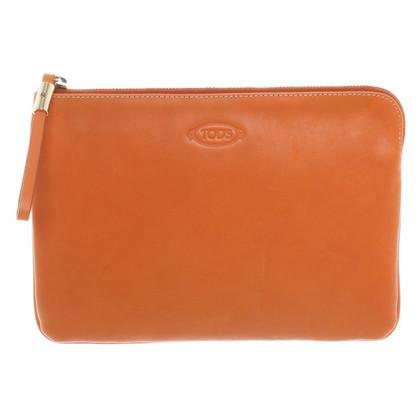 Tod's clutch in Orange
