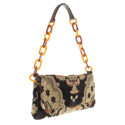 Miu Miu clutch avec motif floral