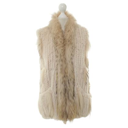 Oakwood Fur vest in beige