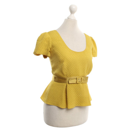Burberry Short silk top in yellow