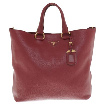 Prada Tote Bag in red