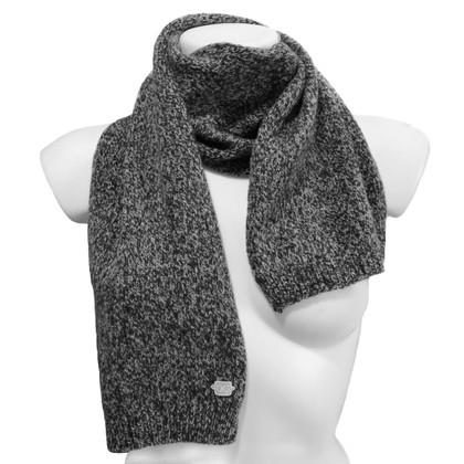 Dolce & Gabbana Sciarpa in nero/grigio/bianco