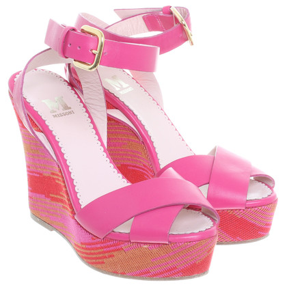 Missoni Wedges in Pink
