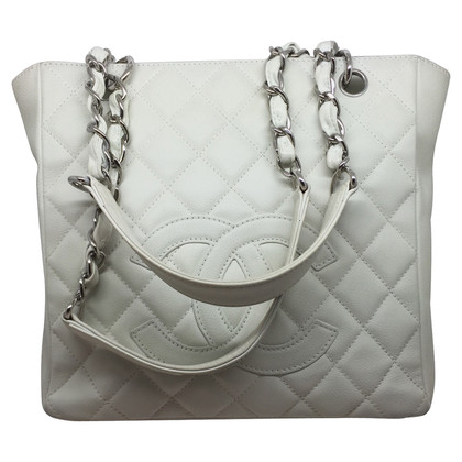 Chanel  PST ivory caviar leather