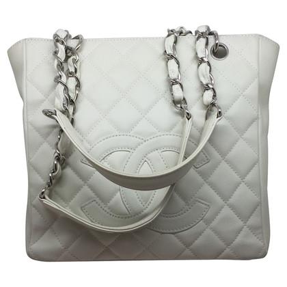 Chanel PST Elfenbein Kaviar Leder
